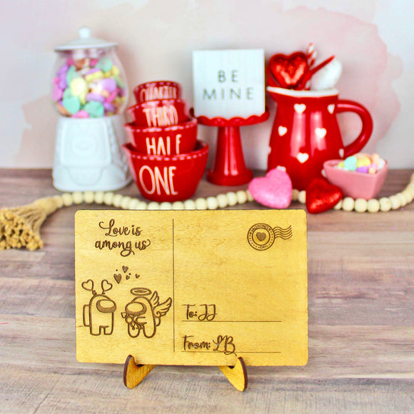 Love is Among Us - Personalized Engraved Wood Home Decor