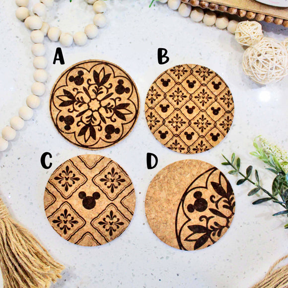 Magic at Home - Round Cork Coasters - Set of 4