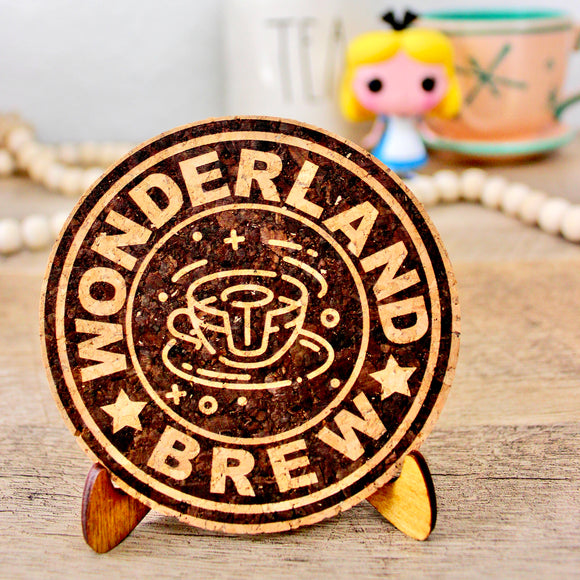 Wonderland Blend Coffee Cork Trivet or Mini Trivet