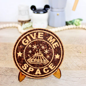 Give Me Space Coffee Cork Trivet or Mini Trivet