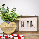 Farmhouse Style Wood Heart - You pick wood stain, colors, and saying!