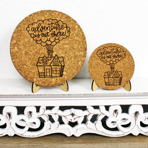 Adventure is Out There Cork Trivet or Mini Trivet
