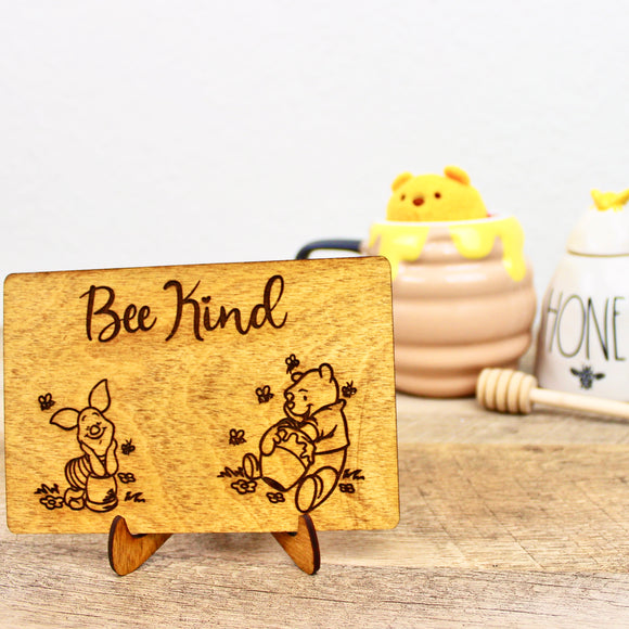 Bee Kind - Engraved Wood Home Decor