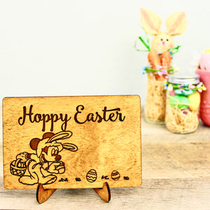 Hoppy Easter - Engraved Wood Home Decor