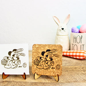Hoppy Easter Mini Trivet - Cork or Canvas
