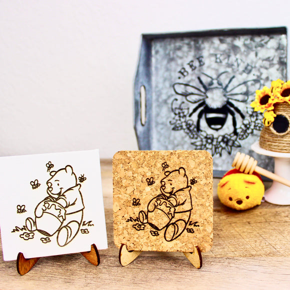 Bee Kind Mini Trivet - Cork or Canvas
