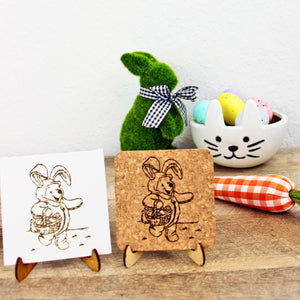 Hunny Bunny Mini Trivet - Cork or Canvas