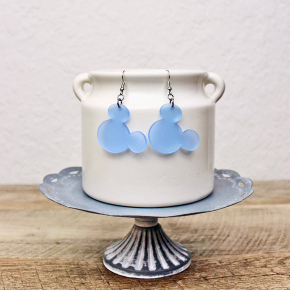 Frosted Acrylic Mouse Earrings