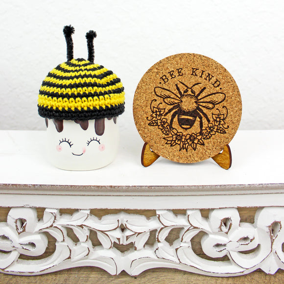 Bee Kind Cork Trivet or Mini Trivet