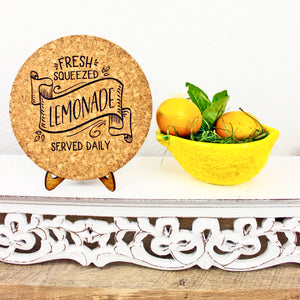 Fresh Squeezed Lemonade Cork Trivet or Mini Trivet