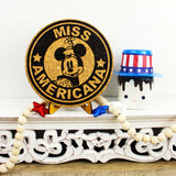 Miss Americana Mouse Trivet or Mini Trivet