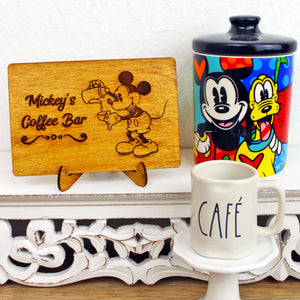Coffee Bar - Engraved Wood Home Decor