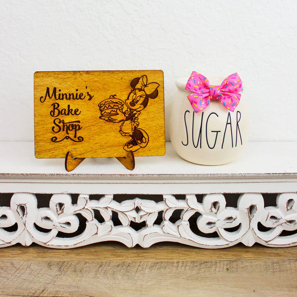 Bake Shop - Engraved Wood Home Decor