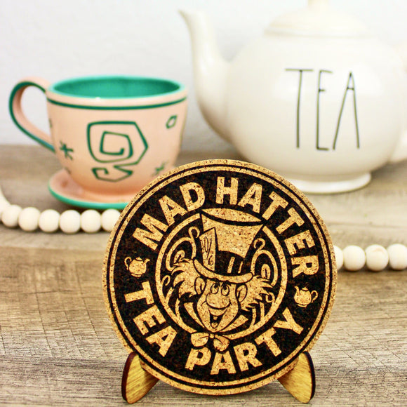 Mad Tea Party Cork Trivet or Mini Trivet