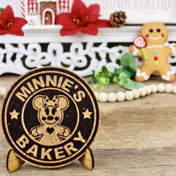 Gingerbread Bakery Cork Trivet or Mini Trivet