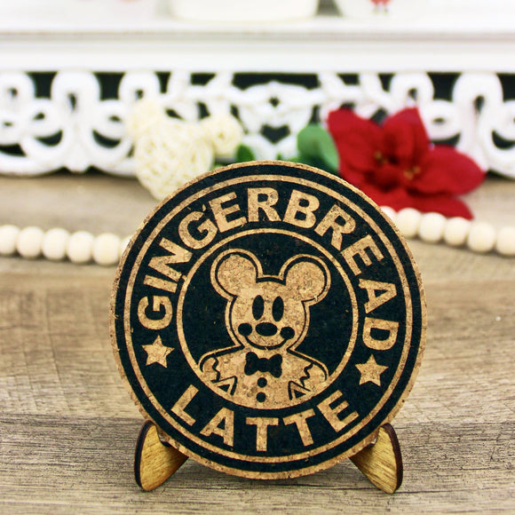 Gingerbread Latte Cork Trivet or Mini Trivet