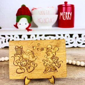 Christmas Love - Engraved Wood Home Decor