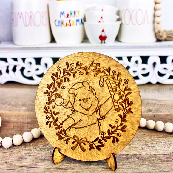 Christmas Bear - Engraved Wood Home Decor