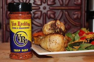yard bird seasoning rub van roehling texas flavor bbq barbecue grilling roasting fried chicken