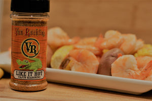 Van Roehling Like It Hot seasoning - amazing flavor paired with heat - cajun perfection spicy veggies hot wings sizzlin salmon