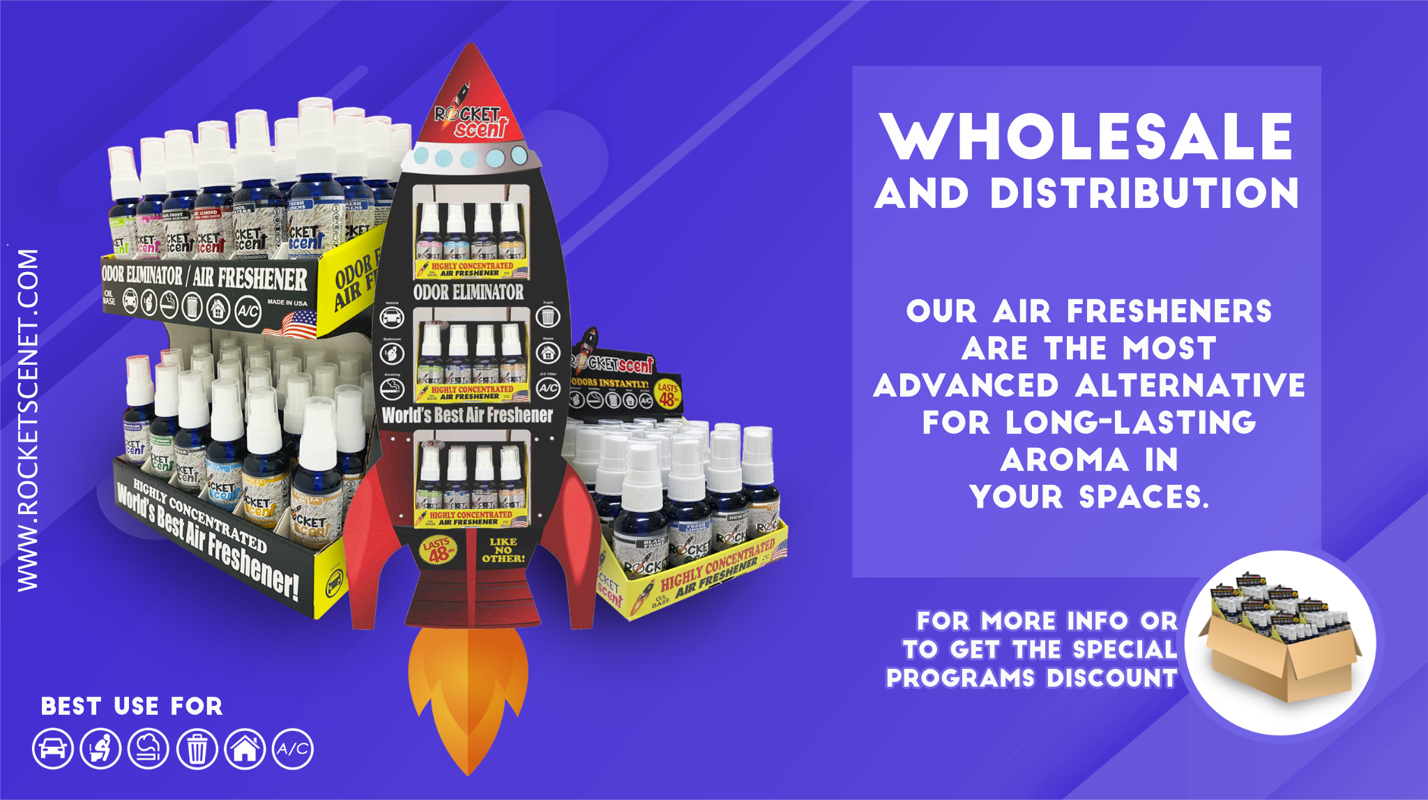 Rocketscent Air freshener Wholesale Distributor