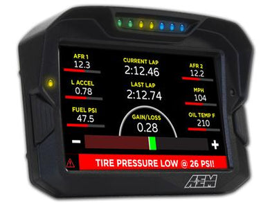AEM CD-7 Non Logging Race Dash Carbon Fiber Digital Display (CAN Input Only)