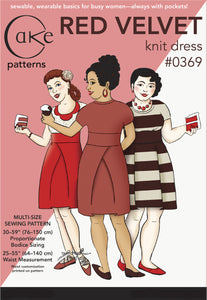 0369 - RED VELVET KNIT DRESS (PDF)