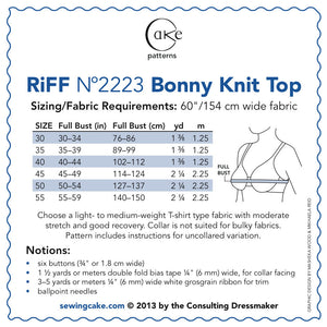 2223 - BONNY KNIT SAILOR TOP (PAPER)