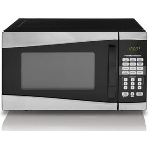 Hamilton Beach 0.9 cu ft 900W Microwave, Stainless Steel - shopyes.us