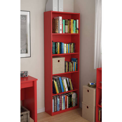 Ameriwood 5-Shelf Bookcase, Multiple Colors - shopyes.us