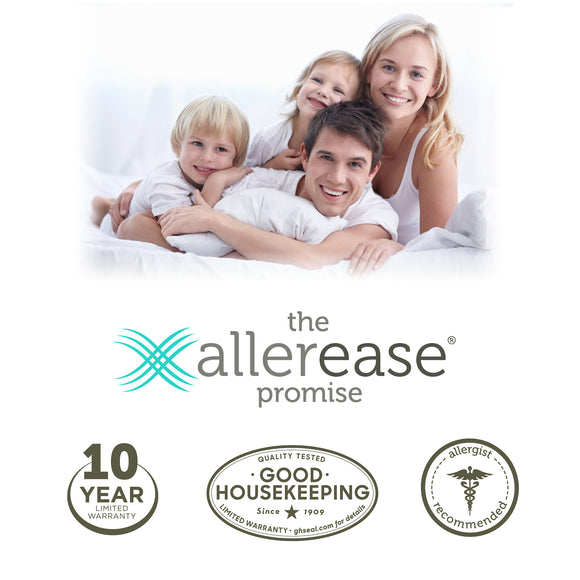 AllerEase Cotton Allergy Protection Pillow Protector, 2pk - shopyes.us