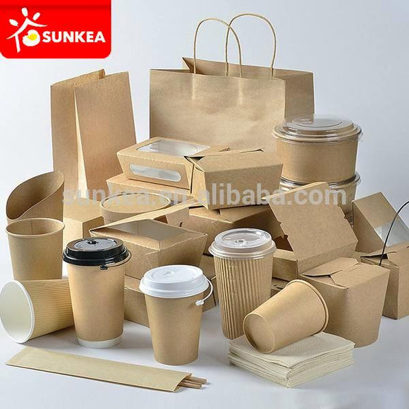 Disposable takeaway custom logo printed paper fast food packaging - shopyes.us