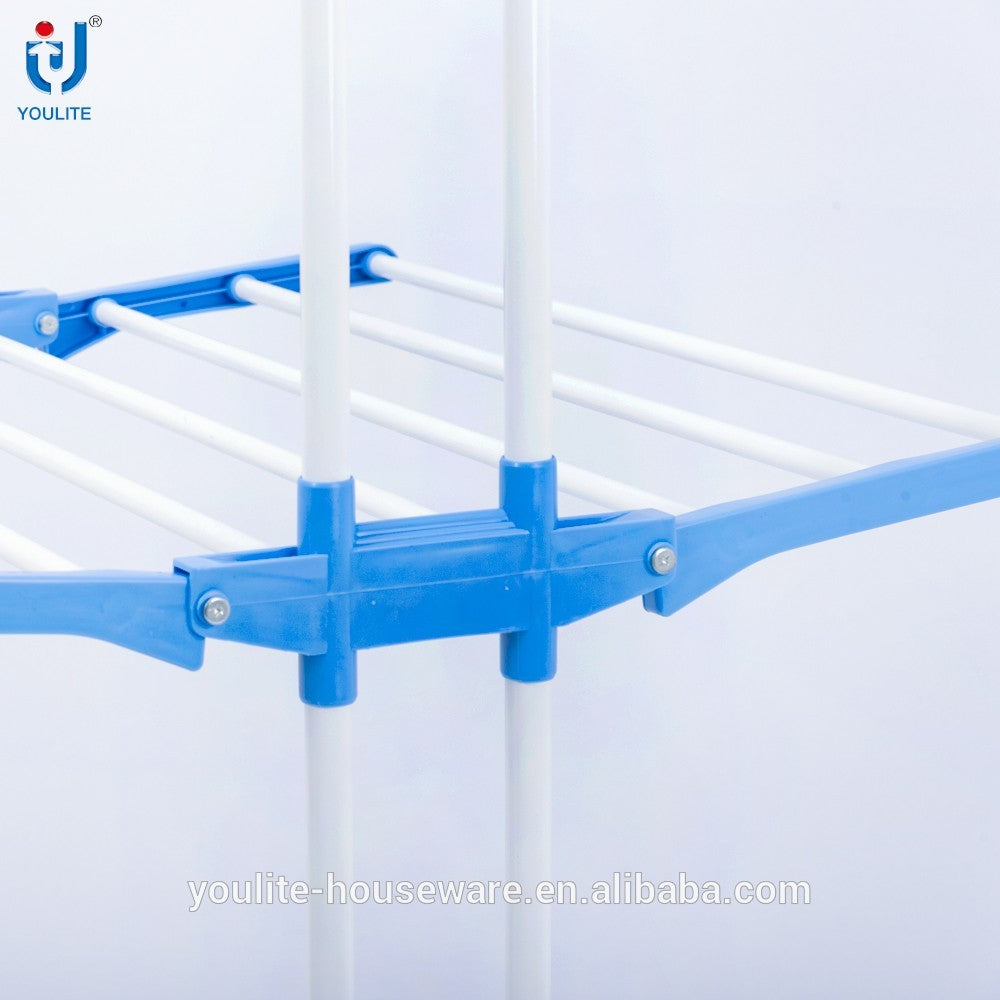 Three layer stainless steel clothes drying rack shopyesus