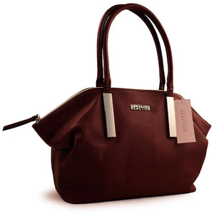 Kenneth Cole Reaction Burgundy Zip Top Purse - shopyes.us
