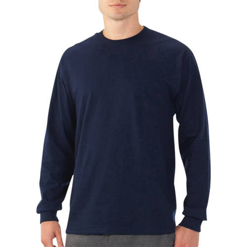 Fruit of the Loom Men's Long Sleeve Crew T Shirt with Rib Cuffs - shopyes.us