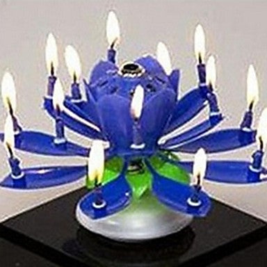 Plastic Spinning Musical Birthday Flower Candle - shopyes.us