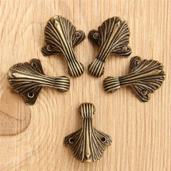 5Pcs/Set Case Box Corners For Furniture Decorative Triangle Pattern Carved 3.2x1.5cm - shopyes.us