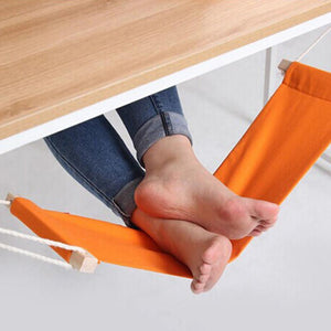 60*16cm Office Foot Rest Stand Desk Feet Hammock Easy to Disassemble Study Indoor Orange - shopyes.us