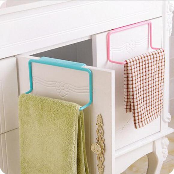 Over Door Pink Tea Towel Holder Rack Rail Cupboard Hanger Bar - shopyes.us