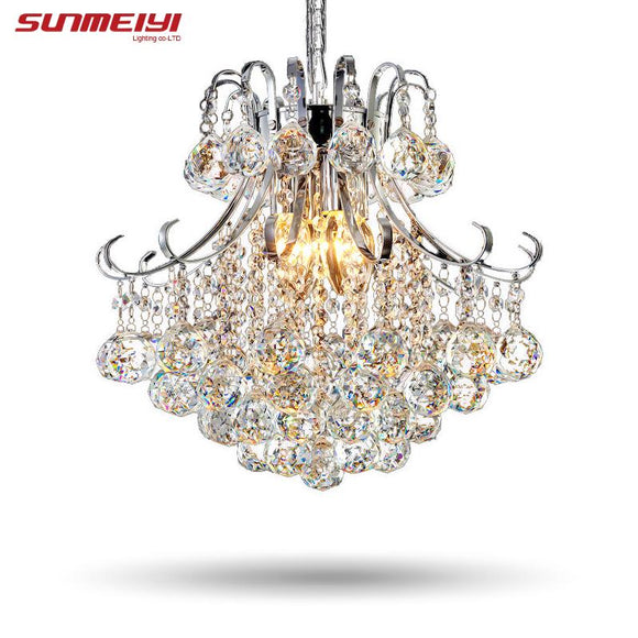 2017 Luxury Crystal Chandelier Living Room Lamp lustres de cristal indoor Lights Crystal Pendants For Chandeliers Free shipping - shopyes.us