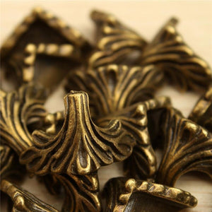 High Quality 30PC Box Corner Foot Protector Desk Box Edge Antique Bronze Pattern Carved 19mm x 11mm - shopyes.us