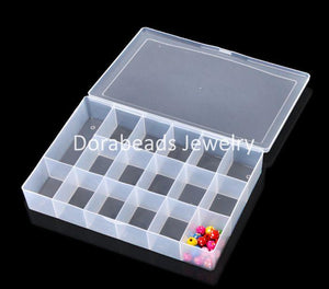 "DoreenBeads  1PC Acrylic Rectangle Beads Storage Container 27x18.5x4.5cm(10 5/8""x7 2/8""x1 6/8"") (B20806) - shopyes.us"