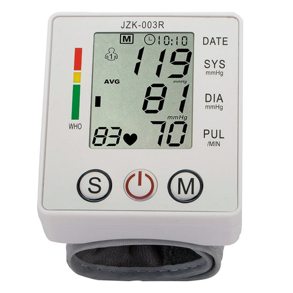 Wrist Blood Pressure Monitor Digital LCD Screen Heart Pulse Monitor Device Home Health Care Measuring Pulse Rate New Sale - shopyes.us