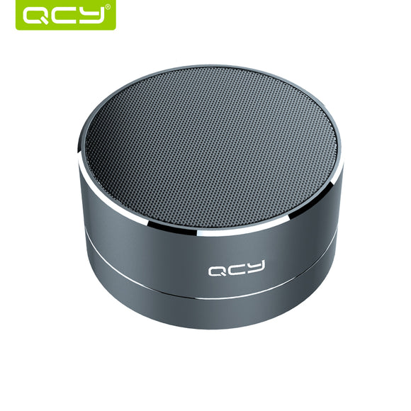 QCY A10 wireless bluetooth speaker metal mini portable subwoof sound with Mic support TF card FM radio AUX for iPhone Samsung - shopyes.us