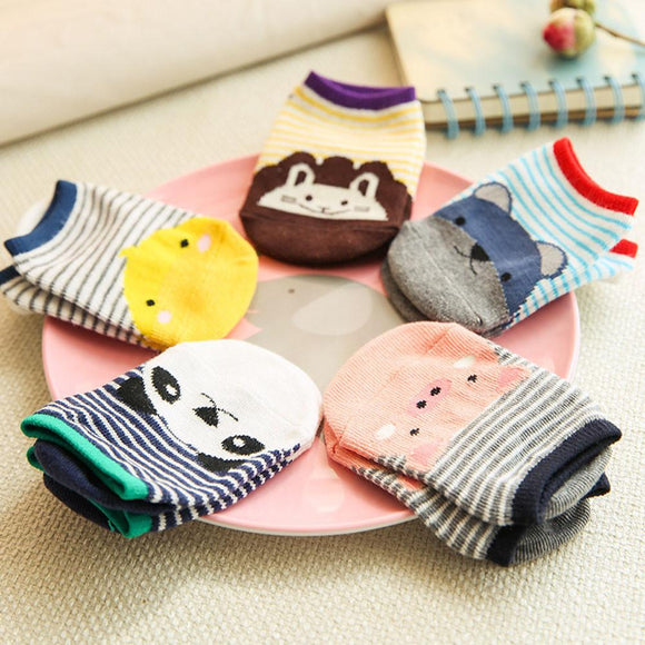 0-4 years old Fashion Unique Girls Boys Cartoon Socks Antiskid Toddler Cotton Low Socks Autumn Winter Summer Short Socks - shopyes.us