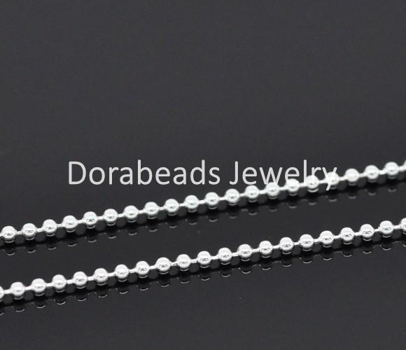 DoreenBeads 10M silver color Ball Chains Findings 1.5mm Dia. (B13961) - shopyes.us