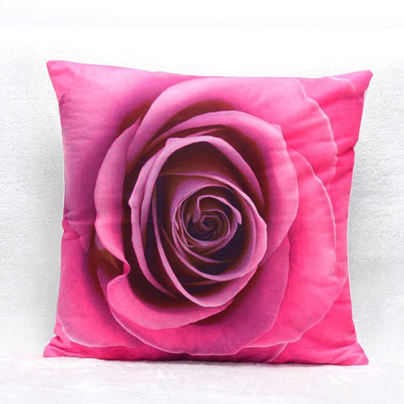 Super Deal 3D Flower Print Sofa Bed Home Decoration Festival  Cushion - shopyes.us