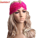 SunWard Good Deal New Fashion Women Headwear Twist Lace Headband Turban Headscarf Wrap Hair Accessories Gift 1PC - shopyes.us