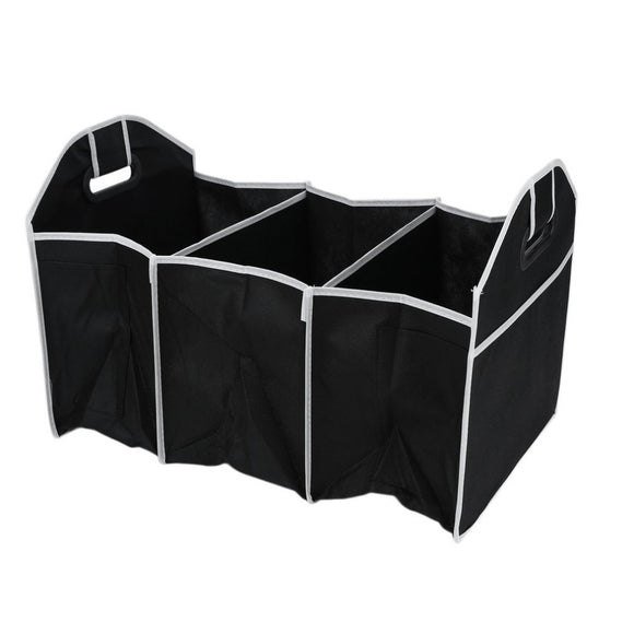 Folding Collapsible Sturdy Robust Storage Box Organiser Shopping Tidy Collapsible Foldable Space Saving Storage Bag - shopyes.us