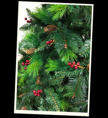 Green Norwegian Pine Artificial Christmas tree. 6.5ft tall
